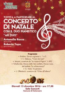 Locandina Concerto di natale 2016