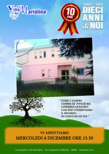 locandina 10 anni villa mariolina